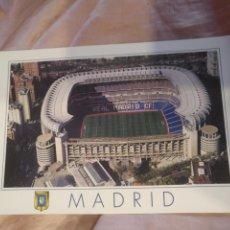 Coleccionismo deportivo: FUTBOL POSTAL ESTADIO REAL MADRID SANTIAGO BERNABEU - ESCUDO DE ORO. Lote 213427163
