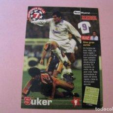 Coleccionismo deportivo: FICHA TECNICA LOS HOMBRES DE LA 7. MARCA. REAL MADRID, DAVOR SUKER.. Lote 213913376