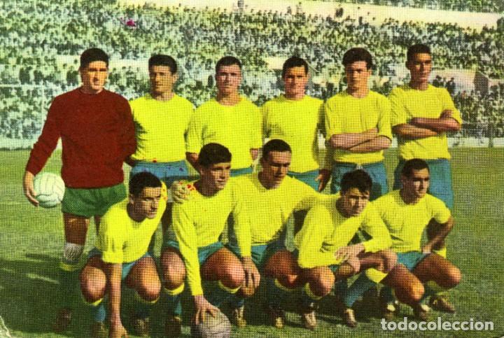 TARJETA POSTAL LAS PALMAS 1965 (TONONO, GUEDES, GERMÁN, GILBERTO...) TARJETFHER, BILBAO, 1965. (Coleccionismo Deportivo - Postales de Deportes - Fútbol)