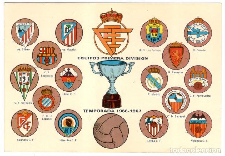 ESCUDOS EQUIPOS PRIMERA DIVISIÓN TEMPORADA 1966-67 - BERGAS - SIN CIRCULAR. (Coleccionismo Deportivo - Postales de Deportes - Fútbol)