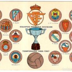 Colecionismo desportivo: ESCUDOS EQUIPOS PRIMERA DIVISIÓN TEMPORADA 1966-67 - BERGAS - SIN CIRCULAR.. Lote 215773876