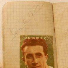 Coleccionismo deportivo: CUADERNILLO CON AUTOGRAFOS DE JUGADORES DE FUTBOL DEL REAL MADRID, PASCUAL BOTELLA, JOSE BAÑON, GUST. Lote 215812098