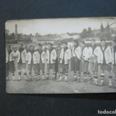 Coleccionismo deportivo: EQUIPO DEL C.D. EUROPA VS U.D. GIRONA-CAMPO FUTBOL DEL GIRONA-POSTAL FOTOGRAFICA-VER FOTOS-(73.710). Lote 216364963