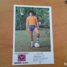 Collectionnisme sportif: TARJETA FOTOGRAFÍA DE DIEGO ARMANDO MARADONA PUBLICIDAD AGFACOLOR. Lote 216799567