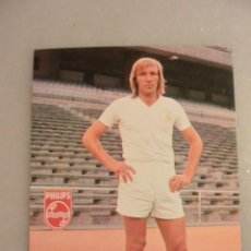 Colecionismo desportivo: TARJETA POSTAL GUNTER NETZER REAL MADRID. BERGAS. AÑO 1973. Lote 217024562