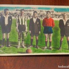 Coleccionismo deportivo: FOTOGRAFIA DE EQUIPO DE FUTBOL, EQUIPO DE MONTIJO, BADAJOZ, FECHADA EN 1954, TAMAÑO POSTAL.. Lote 217139796