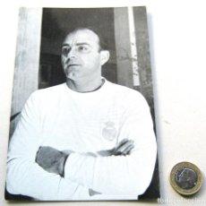 Coleccionismo deportivo: POSTAL ALFREDO DI STEFANO OFICIAL REAL MADRID AÑOS' 60 B/N DIFICIL OLD POSTCARD. Lote 218020066
