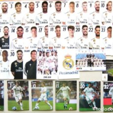 Collectionnisme sportif: LOTE 36 POSTALES REAL MADRID OFICIAL 2018-19 COMPLETA BUSTO Y ACCION POSTCARD CARD R?. Lote 218020536