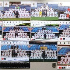 Collezionismo sportivo: 12 POSTALES REAL MADRID OFICIAL EQUIPOS PLANTILLA 2009-2020 POSTCARD POSTKARTE R. Lote 233507320
