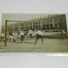 Coleccionismo deportivo: ANTIGUA POSTAL FOTOGRAFICA - EXPOSICION REGIONAL VALENCIANA - III CAMPEONATO DEL FOOT-BALL - 1909. Lote 218109906