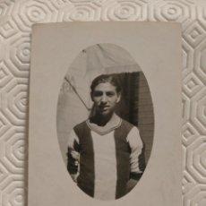 Coleccionismo deportivo: POSTAL DEL DEFENSA DERECHO DEL EQUIPO DE FUTBOL PEÑA BENITO Y DE LA SELECCION NACIONAL. AÑO 1931.. Lote 218738646