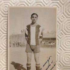 Coleccionismo deportivo: POSTAL DEL DEFENSA DERECHO DEL EQUIPO DE FUTBOL PEÑA BENITO Y DE LA SELECCION NACIONAL. AÑO 1931. DE. Lote 218738787