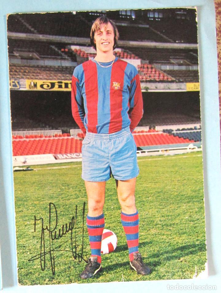 POSTAL JOHANN JOHAN CRUYFF. FOTOGRAFÍA HORACIO SEGUÍ, 1974. (Coleccionismo Deportivo - Postales de Deportes - Fútbol)