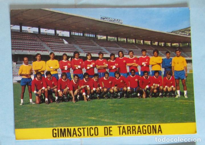 POSTAL GIMNÁSTICO DE TARRAGONA. FOTOGRAFÍA CHINCHILLA, S/F. (Coleccionismo Deportivo - Postales de Deportes - Fútbol)