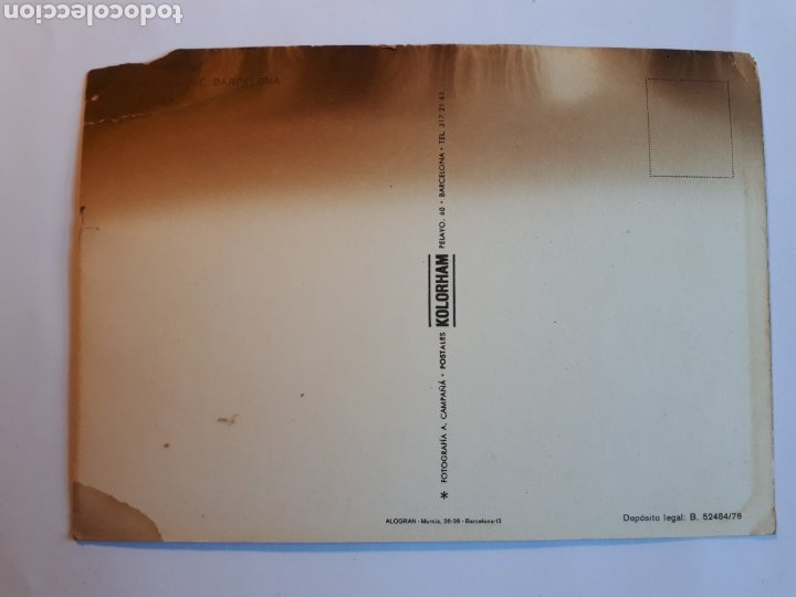 Coleccionismo deportivo: F.C. BARCELONA. PLANTILLA 1976-1977. POSTAL - Foto 2 - 221386843