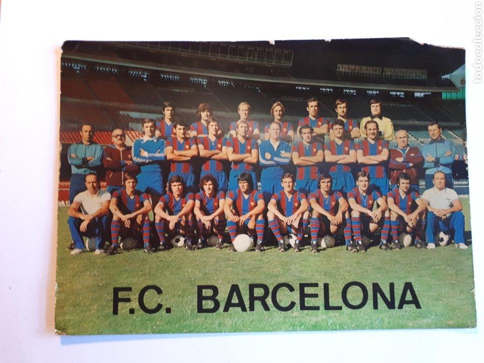 F.C. BARCELONA. PLANTILLA 1976-1977. POSTAL (Coleccionismo Deportivo - Postales de Deportes - Fútbol)