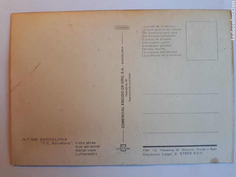 Coleccionismo deportivo: ESTADIO FÚTBOL CLUB BARCELONA. VISTA AÉREA. POSTAL - Foto 2 - 221387521