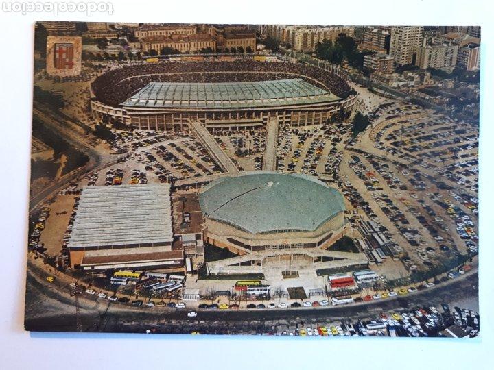 ESTADIO FÚTBOL CLUB BARCELONA. VISTA AÉREA. POSTAL (Coleccionismo Deportivo - Postales de Deportes - Fútbol)
