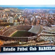 Coleccionismo deportivo: ESTADIO FÚTBOL CLUB BARCELONA, VISTA AÉREA. POSTAL. Lote 221387790