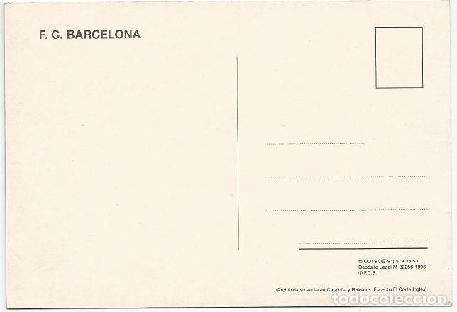 Coleccionismo deportivo: POSTAL DE LUIS FIGO JUGADOR DE F. C. BARCELONA - Foto 2 - 221558462