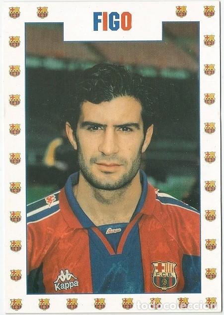 POSTAL DE LUIS FIGO JUGADOR DE F. C. BARCELONA (Coleccionismo Deportivo - Postales de Deportes - Fútbol)