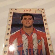 Coleccionismo deportivo: FO6. POSTAL KIKO AT. MADRID. FIRMADA Y ESCRITA. Lote 221621632