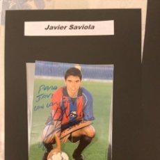 Coleccionismo deportivo: JAVIER SAVIOLA DEDICADA POSTAL GABMA DEPORTIVA. Lote 221630273