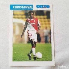 Coleccionismo deportivo: POSTAL CHRISTANVAL - FC BARCELONA, MÓNACO, OLYMPIQUE MARSELLA, FRANCIA (FICHA ONZE MONDIAL). Lote 221677330