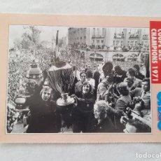 Coleccionismo deportivo: POSTAL JOHAN CRUYFF - AJAX AMSTERDAM, CAMPEÓN COPA DE EUROPA 1971 (FICHA ONZE MONDIAL). Lote 221678750