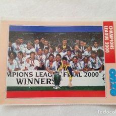 Coleccionismo deportivo: POSTAL REAL MADRID CAMPEÓN CHAMPIONS LEAGUE 2000 (FICHA ONZE MONDIAL) CASILLAS, RAUL, MORIENTES,.... Lote 221679070