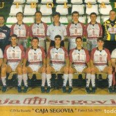 Coleccionismo deportivo: POSTAL CAJA SEGOVIA 98/99 FÚTBOL SALA. Lote 221687755
