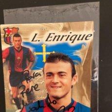 Coleccionismo deportivo: LUIS ENRIQUE BARCELONA POSTAL CON DEDICATORIA. Lote 221738431