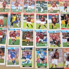 Coleccionismo deportivo: LOTE 75 UNIDADES AC MILAN MILANO CALCIO POSTAL FOTO FICHA 15X10 VARIOS AÑOS POSTCARD CARTOLINA R16. Lote 222096588