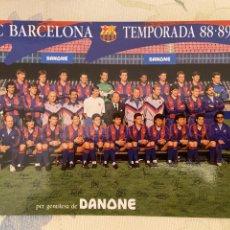 Coleccionismo deportivo: F.C. BARCELONA TEMPORADA 88-89 DANONE. Lote 222097526