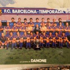 Coleccionismo deportivo: F.C. BARCELONA TEMPORADA 85 86 DANONE. Lote 222097581