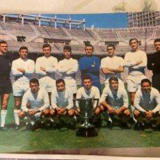 Coleccionismo deportivo: REAL MADRID CAMPEON DE LIGA 1966-67 POSTAL OSCAR COLOR S.A. BERGAS INS 1967 20X15CM. Lote 222112441