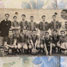 Coleccionismo deportivo: F.C. BARCELONA CAMPEON DE LIGA 1958 59 ALMACENES EL BARATO POR DETRAS 15X10 APROX. Lote 222121562