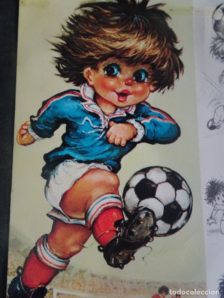 Coleccionismo deportivo: POSTAL ILUSTRACIÓN SELECCION FRANCIA 1978, VER FOTOS - Foto 3 - 222813816