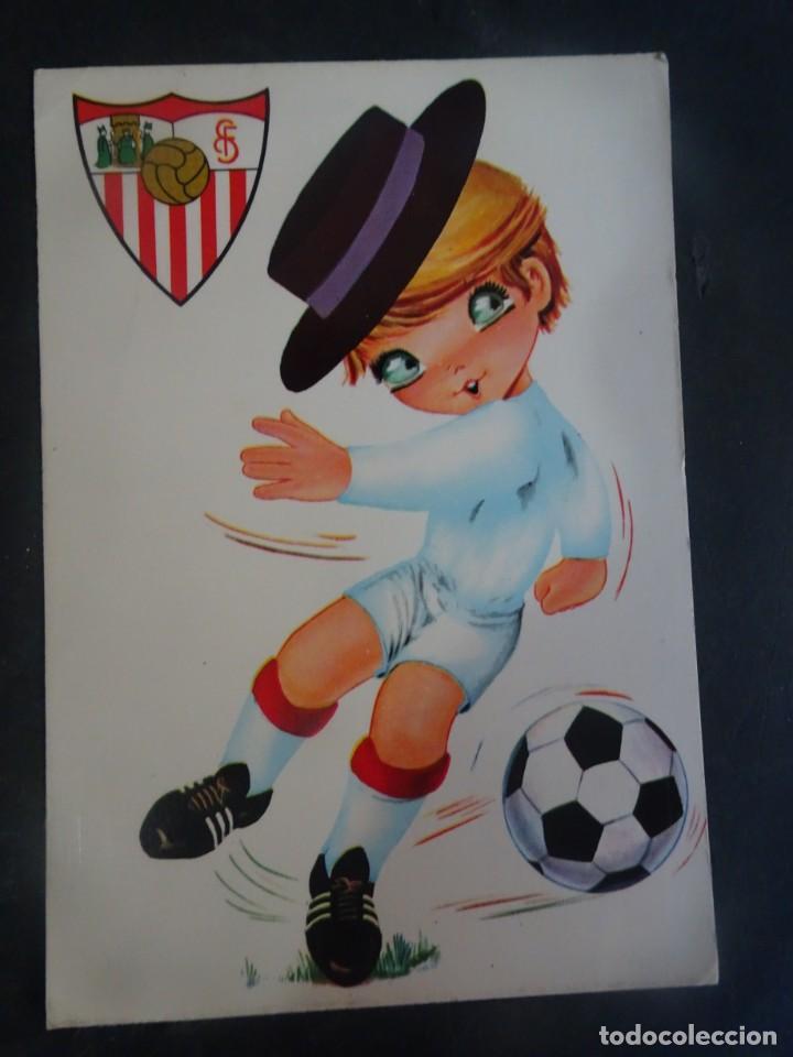 POSTAL ILUSTRACIÓN SEVILLA F.C. ED BV, VER FOTOS (Coleccionismo Deportivo - Postales de Deportes - Fútbol)