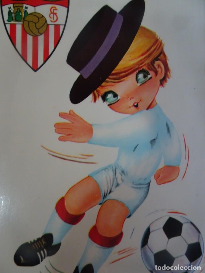 Coleccionismo deportivo: POSTAL ILUSTRACIÓN SEVILLA F.C. ED BV, VER FOTOS - Foto 3 - 222814775