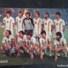 Coleccionismo deportivo: POSTAL EDITADA POR DON BALON, MUNDIAL 82, SELECCIÓN BÉLGICA, VER FOTOS. Lote 222820437