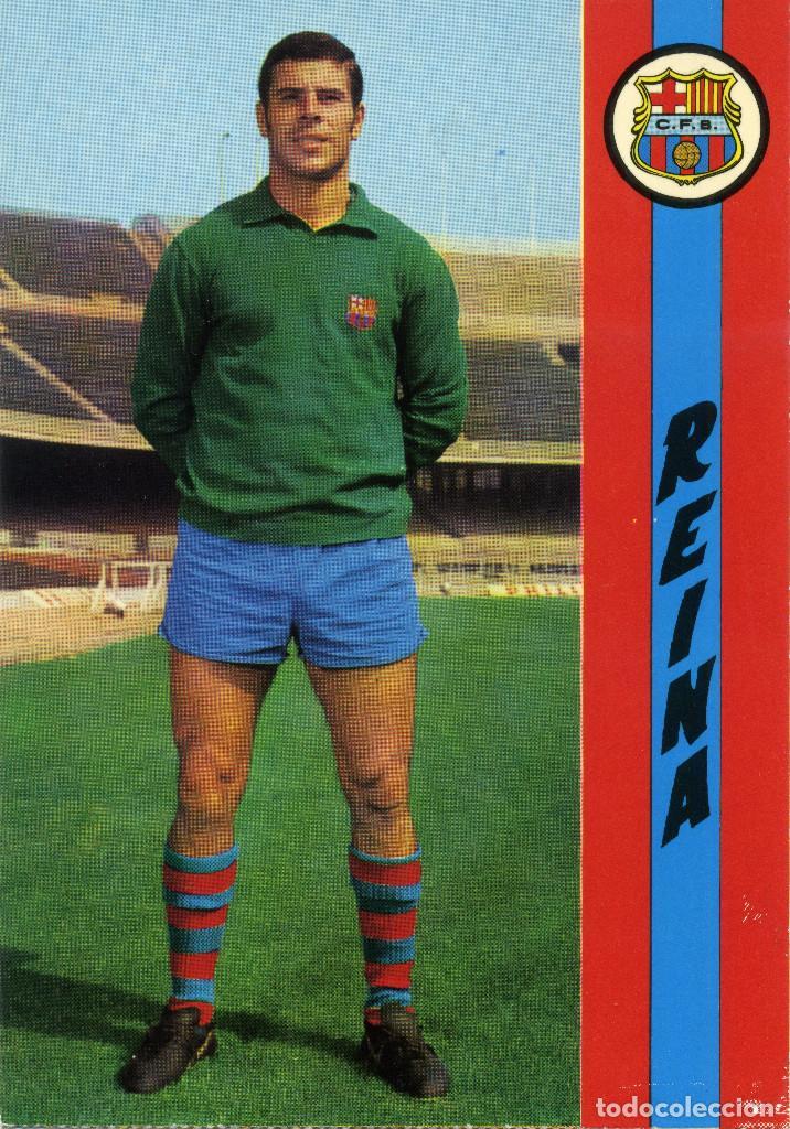 FC BARCELONA - REINA (Coleccionismo Deportivo - Postales de Deportes - Fútbol)