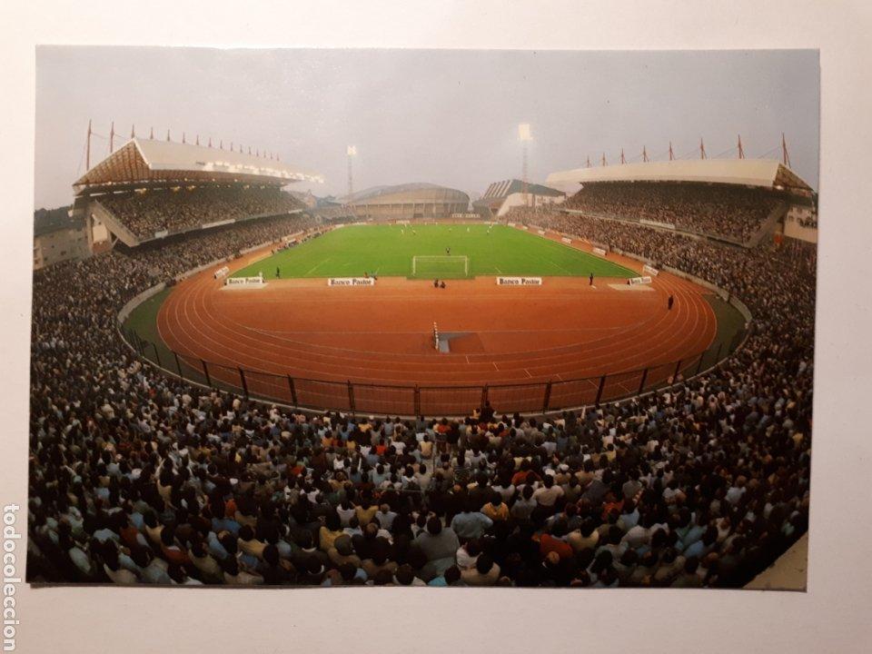 LA CORUÑA. VISTA DEL ESTADIO MUNICIPAL DE RIAZOR. POSTAL DE 1984 (Coleccionismo Deportivo - Postales de Deportes - Fútbol)