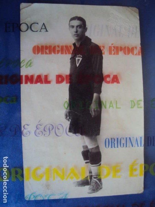 (VP-37)POSTAL FOTOGRAFICA JUGADOR REAL MURCIA AÑOS 20-ARCHIVO VICENÇ PIERA (Coleccionismo Deportivo - Postales de Deportes - Fútbol)