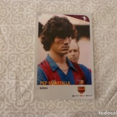 Coleccionismo deportivo: (ABJ-LLL) POSTAL MORATALLA (F.C.BARCELONA)-EN REVERSO FICHA BARÇA. Lote 225835271