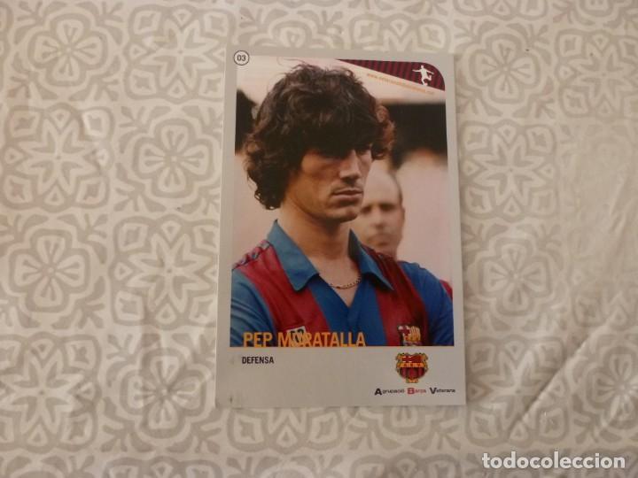 (ABJ-LLL) POSTAL MORATALLA (F.C.BARCELONA)-EN REVERSO FICHA BARÇA (Coleccionismo Deportivo - Postales de Deportes - Fútbol)
