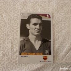Coleccionismo deportivo: (ABJ-LLL) POSTAL FUSTÉ (F.C.BARCELONA)-EN REVERSO FICHA BARÇA. Lote 225841485