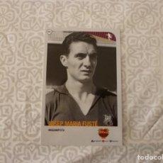 Coleccionismo deportivo: (ABJ-LLL) POSTAL FUSTÉ (F.C.BARCELONA)-EN REVERSO FICHA BARÇA. Lote 225841615