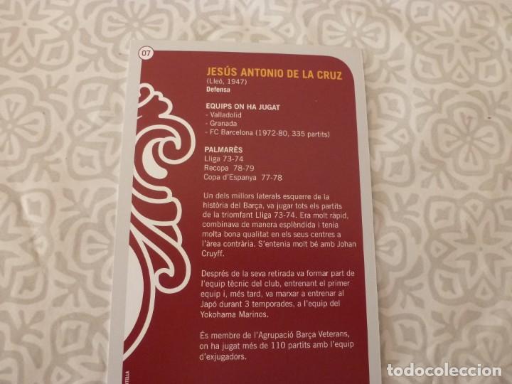Coleccionismo deportivo: (ABJ-LLL) POSTAL DE LA CRUZ (F.C.BARCELONA)-EN REVERSO FICHA BARÇA - Foto 2 - 225852105