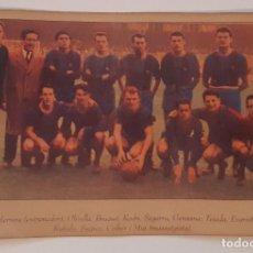 Coleccionismo deportivo: FC BARCELONA POSTAL EQUIPO 1950-1960 - ALINEACION - ESTADIO - STADIUM - STADE. Lote 226398930